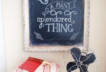 Love me some chalkboards / by Shannon Baker