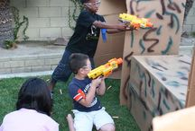 Nerf birthday party / All out boys fun!