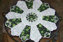 carpetas de patchwork redondas
