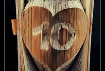 BookArt by Kallitsa / Κάντε ένα δώρο στους αγαπημένους σας και πρωτοτυπήστε! Ονόματα, σύμβολα, μονογράμματα, ημερομηνίες, Logos ή ότι άλλο βάλει ο νους σας,  φτιαγμένο με book folding art και αγάπη! ♥