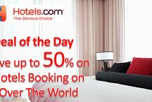 Hotels.com Coupon Codes / Hotels.com is one of the best worldwide hotel website which provides 3-5 star hotel accommodation to travelers at very low rate. Hotels.com is one of the biggest selections of discounted hotels which include free parking & much more. Whenever you visit Hotels.com you will always find some special sale & deals. At Hotels.com you will get a variety of more than 240,000 amazing hotels options in more than 60 countries. For more Hotels.com deals visit: http://www.couponcutcode.com/stores/hotels/