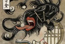 Yokai / Yokai is are a class of supernatural creatures, demons and spirits in Japanese folklore.