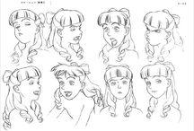 Manga visage expression