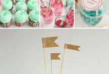 Party ideas - pastel colors/lovely themes / Ideias para a festa de um ano da Luna ❤️
