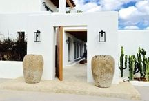 Outdoor architecture cyclades