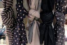 Écharpes, étoles, foulards