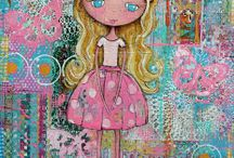 Altered Mixed Media Art Chica / by Gila Muniz