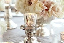 Blush and silver weddings