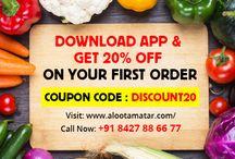 Alootamatar Chandigarh / We at Alootamatar providing fresh fruits & vegetables for the people of Chandigarh, Panchkula and Mohali.