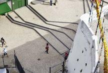 merdivenli oturma alanı