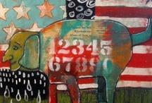 SUZAN BUCKNER ART-- DOGS AND CATS