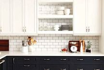 Cabinets with shelves in kitchen / by Erin Stubing