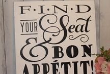 find your seat and bon appetit