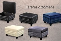 Ferarra Nailhead storage Ottomans / Meridian Furniture - Ferarra Ottomans  Elegant and eye-catching, the stunning Ferrara Ottoman from Meridian Furniture is the perfect addition to any space. Features a top quality Bonded Leather and custom nailhead design.  Black Bonded Leather Silver Nailheads Attach Legs Only