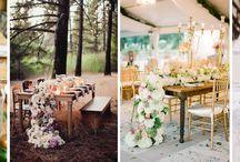 Bieżniki ze świeżych kwiatów lub ziół / Bieżniki z żywych kwiatów mogą stanowić piękną i romantyczną dekorację Waszego przyjęcia weselnego!