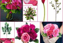 bruidspaar simon & marloes / bruiloft met fuchia rose tinten