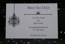 Sentio Events and Wedding Stationery - Save the Date Cards Ideas / Here are a few ideas from around the web for save the date cards that can be adapted to a specific bespoke design for a bride