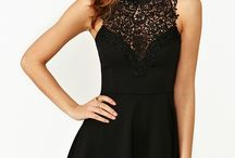 Black lace dress / Dresd