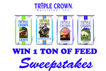 Triple Crown Sweepstakes / Enter to win 1 TON of FREE feed from Triple Crown Nutrition! Sign up here >>> http://hcity.co/SweepstakesSignUp