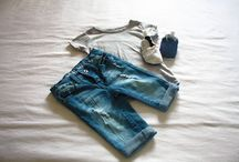 Denim On Denim / Mila wears her first boyfriend jeans.   Shoes by Tic Tac Toe / Jeans + T-shirt by Pick 'n Pay Clothing