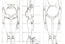 Drawings of human's body