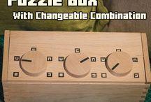Magic puzzle boxes and secret boxes