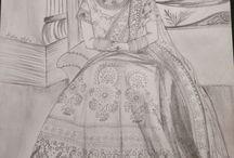 illustration / portrait / by Alisha Peshwani