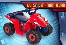 Ultimate Spiderman Rides / You might not have the acrobatic skills or superhuman strength of Spidey, but you can get to the scene of the crime with one of these super-charged vehicles! Spiderman bikes, trikes, ride-ons and scooters!