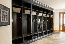 Mudroom Ideas / Mudrooms are found in nearly every home whether it be a make shift space in the front foyer of your home or a designated space next to a laundry room, garage, or back door. The problem is mudrooms have a reputation for mild chaos, especially if your household has more than one child, but with the right storage you can create the ultimate mudroom!