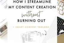 Work From Home Mom Tips: Content Creation / Tips and tricks for moms who are wanting to work from home and start their freelance business. Tips for creating content for your customers. Ideas includes blog posts, social media posts, course content, email marketing and more!