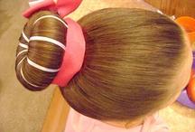 bun with ribbon