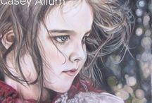 Kids in Art: Coloured pencil / children in art:  coloured pencil