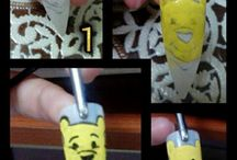 cartoons nail art