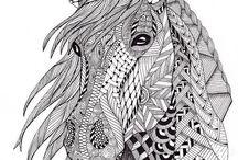 Konie kolorowanka