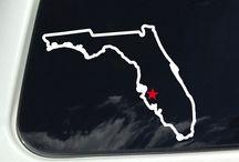 Florida Outline / Florida Outline Decal - Florida State Outline - Window Sticker Decal