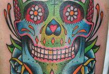 Sugar skull tatoos
