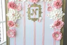 Backdrop paper flower