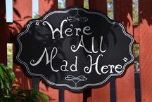 My Alice In Wonderland Obession / Garden, Alice in wonderland Christmas tree, Mad Hatter tea party.