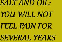 Salt and oil for pain