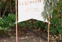 Wedding Indication / Segnali e cartelli per indicare agli ospiti come arrivare in location.