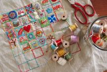 embroidery, crocheting and stitching