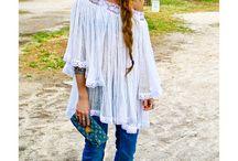 Boho / Bohemian clothes, jewellery