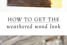 weathered wood look
