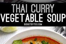 Thai curry vege soup