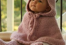 Knitted & crochet baby&childrens clothing / Baby poncho / by Adelailli Saffron Chley : )