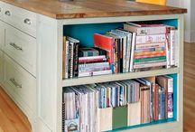 kitchen island bookcase