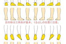 character anatomy feet