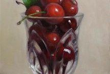 pomegranates and cherries