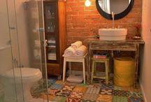 Banheiros / Lindoz banheiros para se inspirar!