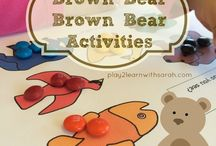 """Brown Bear Brown Bear / Ideas for classroom activities to go along with the book """"Brown Bear, Brown Bear, What Do You See?""""   Some pins may contain activities that are not appropriate for children under 2 1/2 years old."""